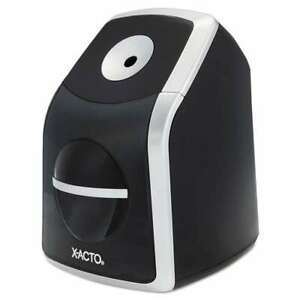 X acto Sharpx Classic Electric Pencil Sharpener Black silver 079946017717
