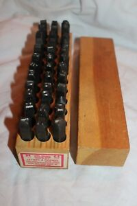 Vintage Young Bros Stamp Works 1 4 Letters Figures Steel Stamps 36 Pc 6 4mm