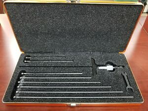 Starrett No 445 Depth Micrometer Usa Made