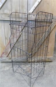 Country Store Wire Rack Potato Chip Rack Display Cabinet Vintage Wire Shelf A