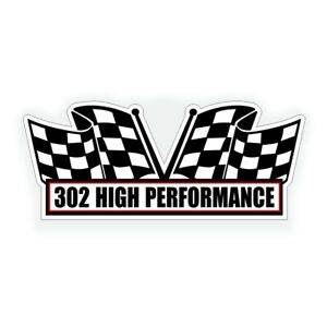 302 High Performance Engine Air Cleaner Decal For Classic Chevy Z28 Camaro