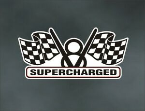 Supercharged Engine Decal For Blower Blown Gmc 471 671 871 Muscle Or Race Car