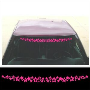 Windshield Shooting Stars Decal For Girl Car Mini Truck Or Sport Compact Pink