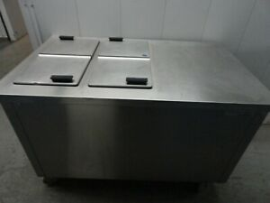 Delfield Kcm50 Commercial Refrigerated Milk ice Cream Dipping Counter W 4 Lids
