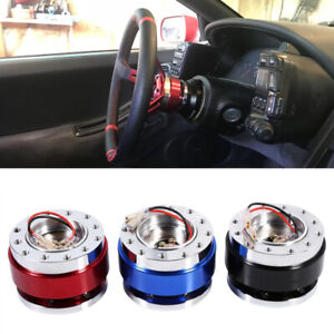 Universal Car Steering Wheel Quick Release Metal Hub Adapter Snap Off Boss Kit