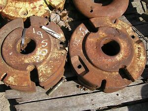 John Deere M Tractor Set Of Original Jd Rear Wheel Weights M343t M 343t