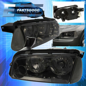 For 2006 2010 Dodge Charger Replacement Smoke Housing Headlight Signal Lamp Set