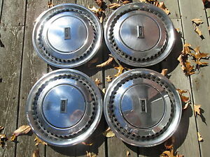 Factory 1980 1981 Oldsmobile Omega 13 Inch Hubcaps Wheel Covers