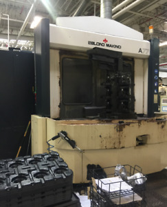 Used Makino A 77 Cnc Horizontal Mill 1997 Pro 3 1 Degree 60 Tools Tsc Chip