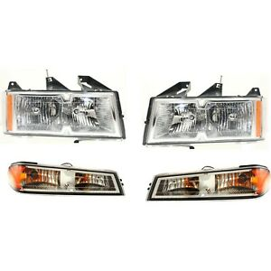 Headlight Kit For 2005 2007 Chevrolet Colorado Left And Right 4pc