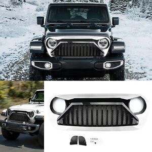 Front Bumper Grill Grille With Mesh Inserts For Jeep Wrangler Jl 2018 2019 Wt