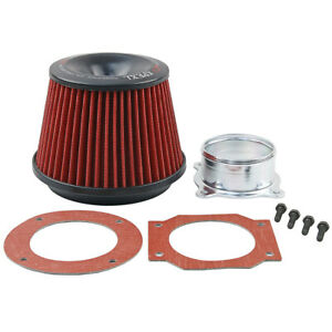 Red Apexi Power Intake Air Filter 2 75 Inlet Flange For Universal Fitment