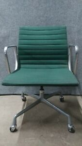 Vintage Herman Miller Chair Eames Era Rolling Reclining Swivel Armchair Green