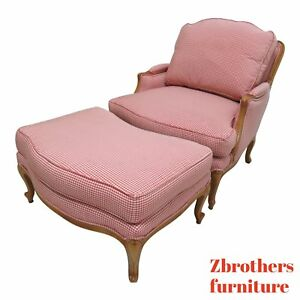 Ethan Allen Legacy Country French Lounge Chair And Ottoman