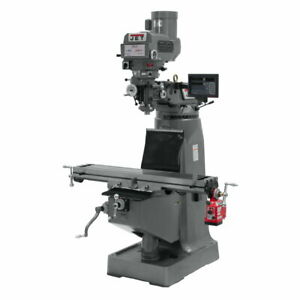 Jet 691232 Jtm 4vs Mill 3 axis Newall Dp700 Dro knee With X axis Powerfeed