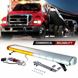 88 Led 47 Light Bar Emergency Amber White Warn Beacon Tow Truck Strobe Response