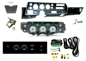 70 72 Chevelle Super Sport Ss Dash Conversion W Dakota Digital Vhx 70c cvl S w