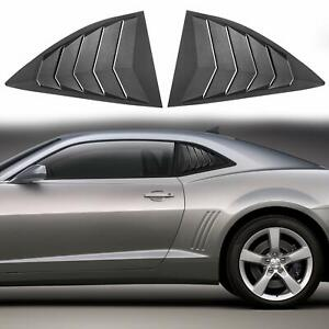 2pcs Abs Quarter Side Window Scoop Louvers Cover Vent For 2010 2015 Chevy Camaro