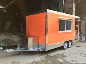 Part Payment 4mx2m Concession Stand Trailer Kitchen 4fryers 4burners Ship By Sea