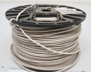 New 500 Ft Roll spool White 14 Awg Stranded Copper 600v Thhn mtw thwn awm Wire