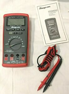 Snap on Eedm525d Auto Range True Rms Multimeter
