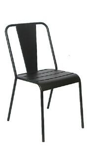 Lot Of 24 Restaurant Outdoor Patio Black Iron Finish Chair