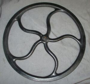 Large 16 Antique Vintage Singer Treadle Sewing Machine Flywheel Steampunk 25301
