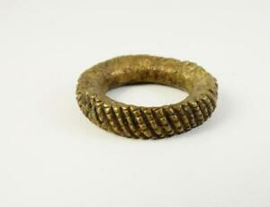 Antique Yoruba Brass Ring Old African Currency Nigeria Africa
