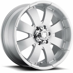 18x8 5 Silver Ultra Mako 243 Wheels 6x5 5 10 Gmc K 2500 Pickup 6 Lug K 1500