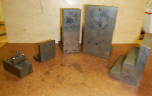 Collection Of Small Angle Plates V Block Machinist Setup Tooling Jig Fixture