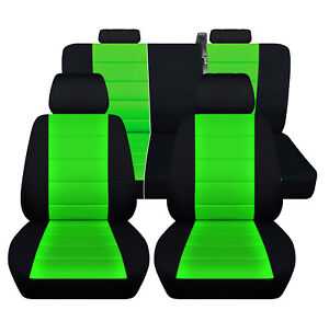 Chevy Silverado Seat Covers 2011 40 20 40 Seats 60 40 Rear Black Lime Green
