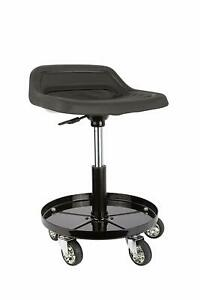 Sunex Rolling Mechanic Stool 300lb Cap Pneumatic Adjustable Work Shop Seat Black