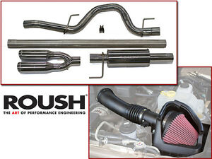 2011 2014 Roush Ford F 150 Svt Raptor 6 2l Exhaust Cold Air Intake Kit