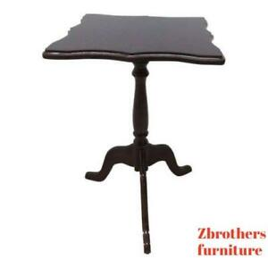 Bombay Company Cherry Lamp End Table Pedestal Stand