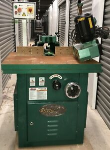 Grizzly G8622 Sliding Tilting Spindle Shaper G1479 Power Feeder