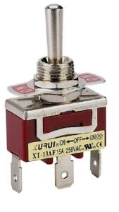 Heavy Duty Spdt on off on Momentary Toggle Switch Spade Terminals 13af