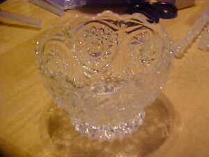 Antique Cut Lead Crystal Bowl
