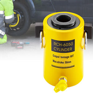 Hydraulic Cylinder Jack 60t 2 Stroke Single Acting Hollow Ram Good Sealing