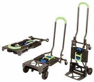 Cosco 300lb Cap 2 In 1 Hand Truck Heavy Duty Convertible Folding Portable Cart