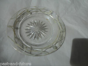 Small Heisey Silver Overlay Dish 4 1 2 Marked