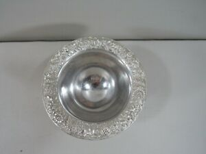 Kirk Sons 207 Sterling Silver Repousse Bowl 3 Foot Footed 167 6 Grams
