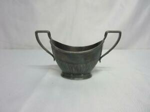 Vintage Tiffany Co Silver Plated Sugar Bowl Marked 390 Makers 4951