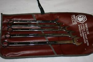 Matco Tools 5 piece Extra Long 12 point Sae Combination Wrench Set Usa