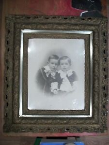 Antique Wood Picture Frame Very Ornate Very Large 28 X 32
