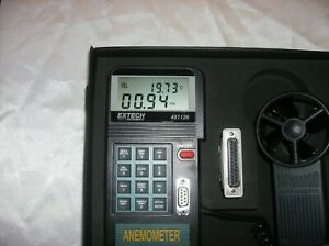 Extech 451126 Vane Thermo anemometer Datalogger Dual Display With Case