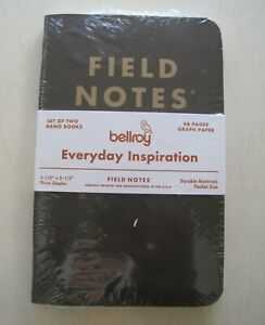 New Bellroy Field Notes Set Of 2 Two Memo Books 48 Pages Graph Paper 3 5 X 5 5