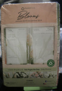 2019 Franklin Covey Blooms Classic Daily Planner Refill 2 Pg Per 5 1 2 X 8 1 2