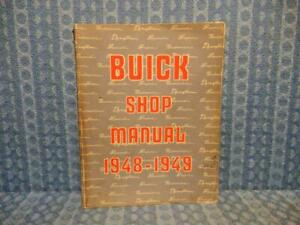 1948 1949 Buick Original Shop Manual Special Super Roadmaster see Detailed Ad