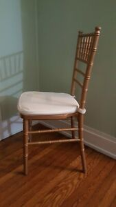 Gold Wood Chiavari Chair 140 Commercial Quality Stackable Wood Chiavari Chairs