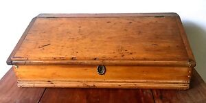 Primitive 18c Slant Top Pine Desk Box